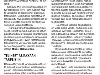 Lue K&F PRO -lehdessä julkaistu artikkeli: Kenguru Pro laajeni Suomeen