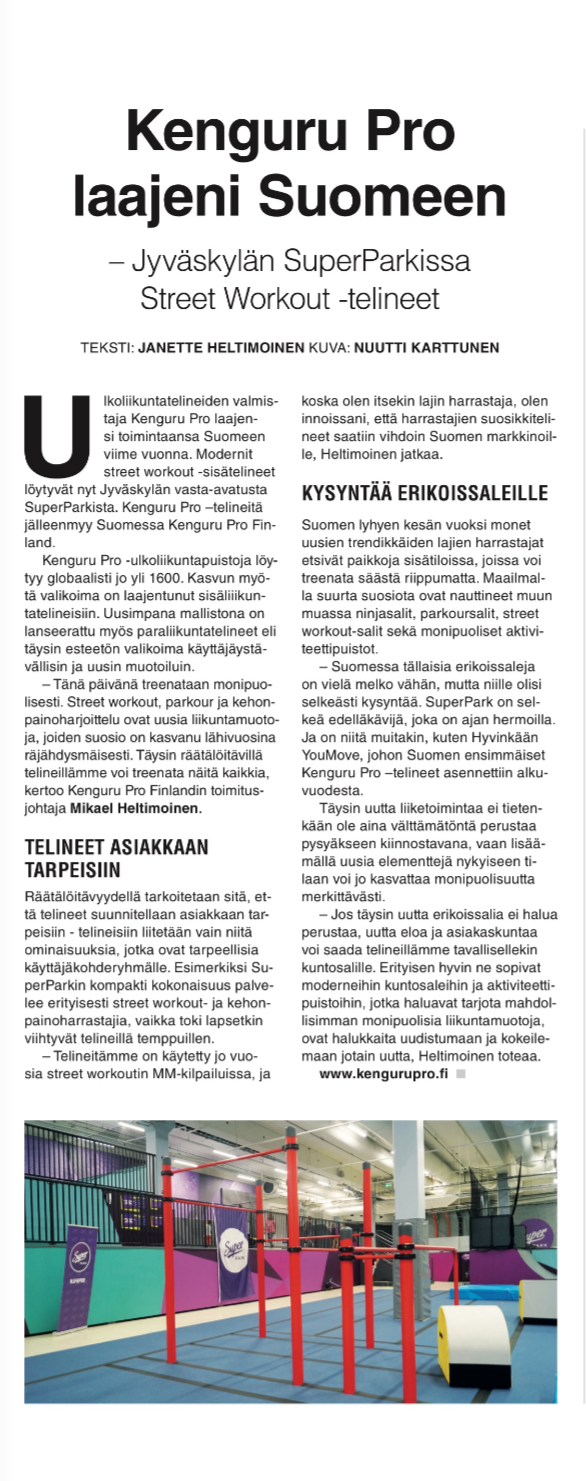 Kenguru Pro laajeni Suomeen