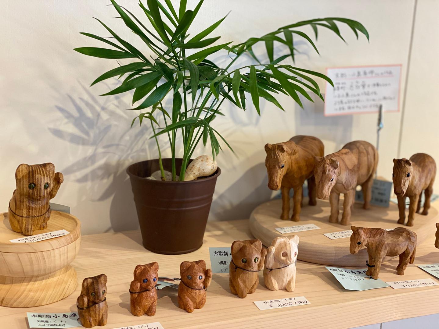 小島さんの木工品