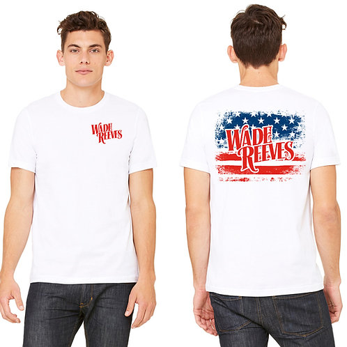 Wade Reeves White Patriotic Tee