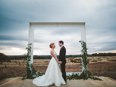 Modern + Rural Austin Wedding