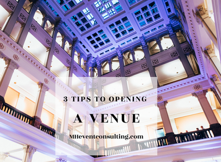 3 Tips to Opening A Venue