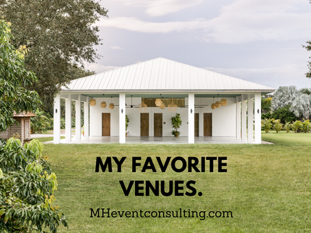 Some of My Favorite Event Venues!