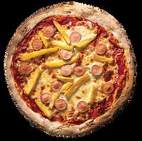 pizza wurstel e patatine parma pizzeria