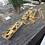 Thumbnail: Long Rectangular Resin Pendant on Gold Chain
