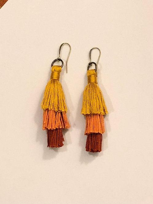Sunset tassel earrings