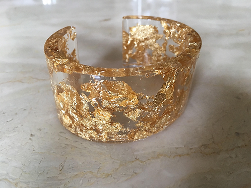 Gold Leaf Resin Cuff