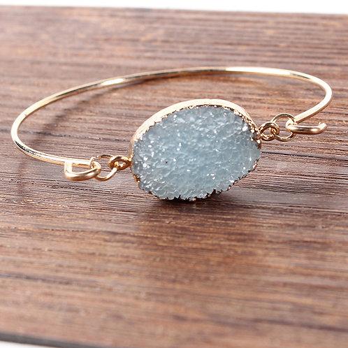 Oval Druzy Stone Bracelet