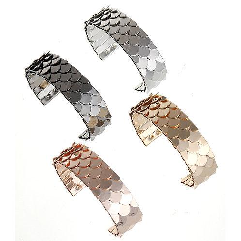Textured Scale Cuff Bracelet