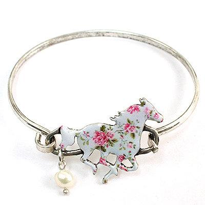 Floral Horse Bracelet