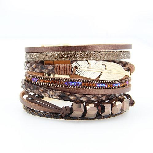 Multi Strand Feather Bracelet
