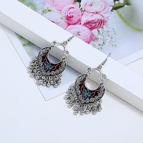 Silver Tone Charm Earrings