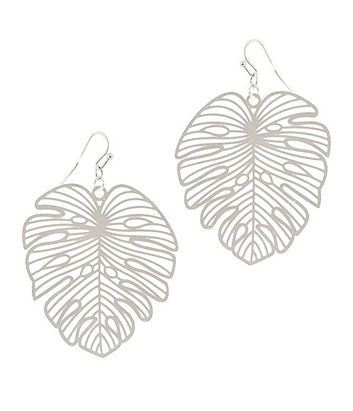 Silver Leaf Filigree Earrings