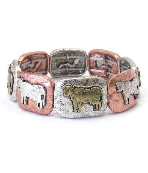Cow Stretch Bracelet