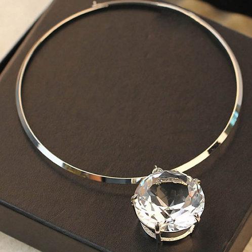 Silver Choker Diamond Necklace