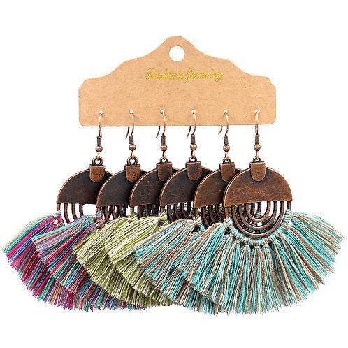 Tassel Earrings Set