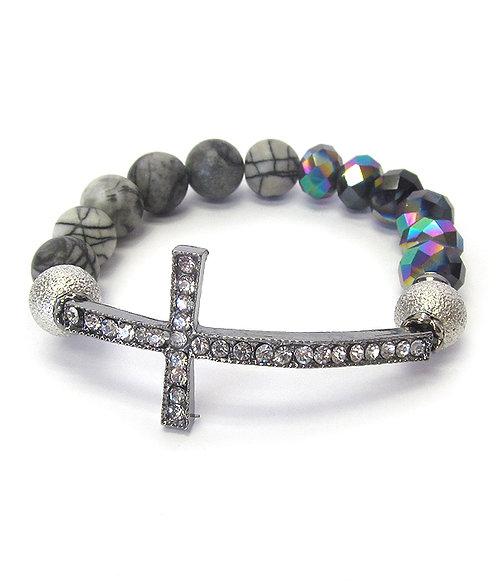 Cross Stretch Bracelet Set