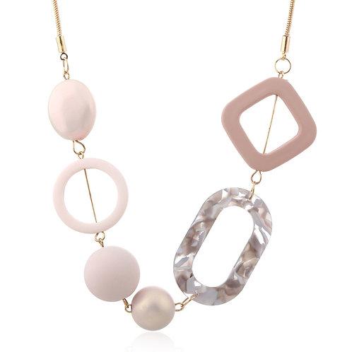 Pink Metal Necklace