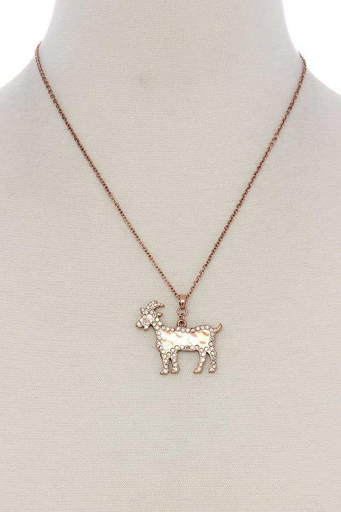 Rhinestone Animal Necklace