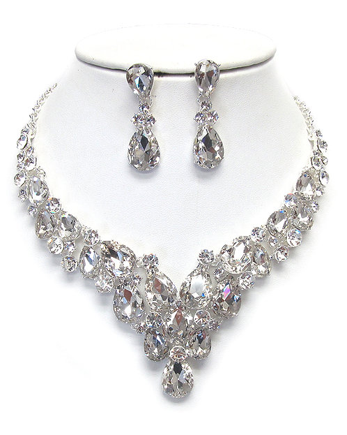 BLING Elegant Rhinestone Statement Necklace