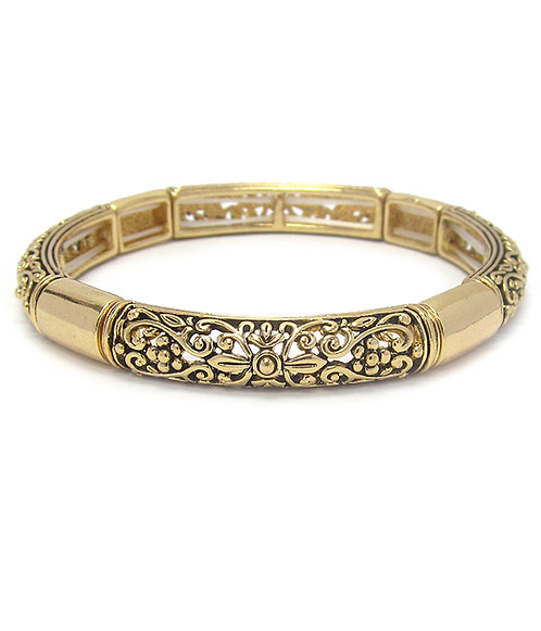 Gold Filigree Bracelet