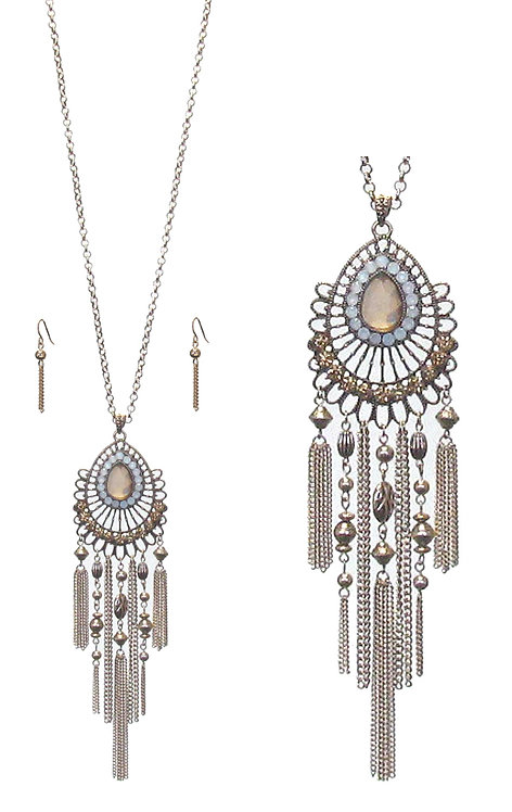 Boho Tassell Long Necklace