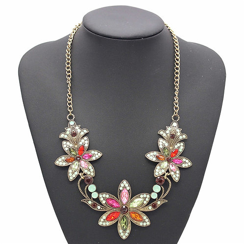 Bling Flower Necklace