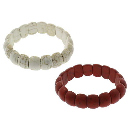 Red Turquoise Stretch Bracelet