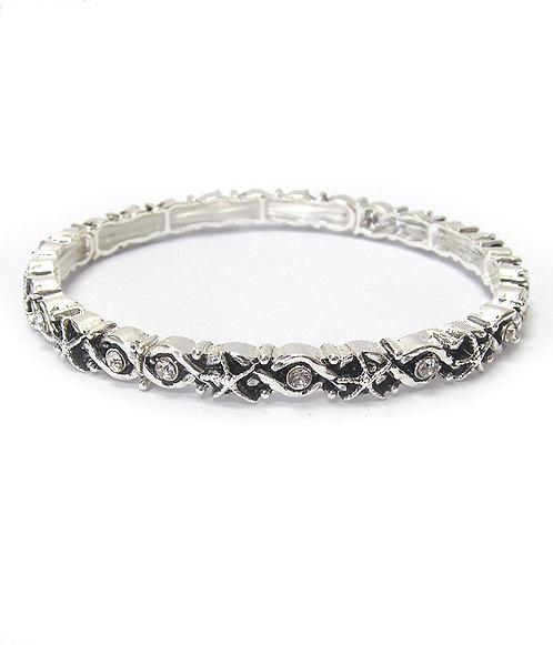 Silver Starfish Stretch Bracelet