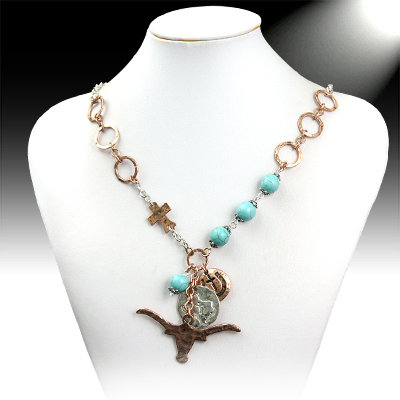 Longhorn Turquoise Necklace
