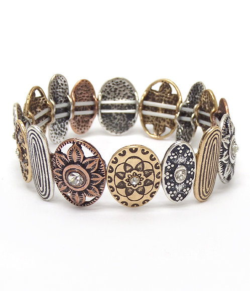 Multi Color Medallion Bracelet