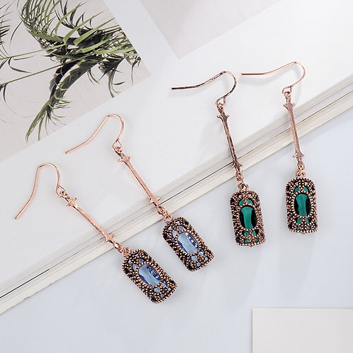Copper Drop Earrings