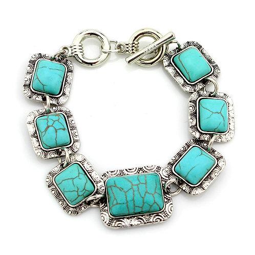 Western Boho Design Turquoise Bracelet