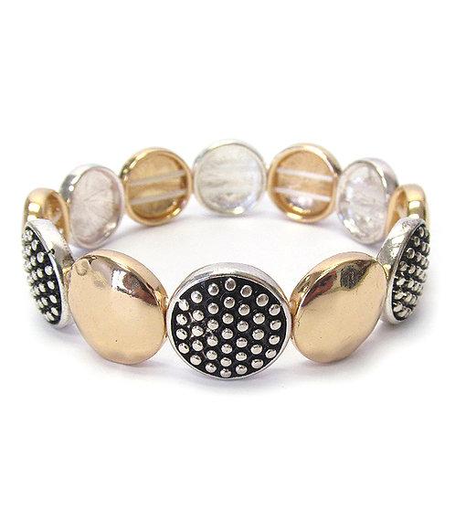 Shiny Disc Stretch Bracelet