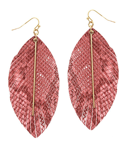 Snakeskin Leatherette Earrings
