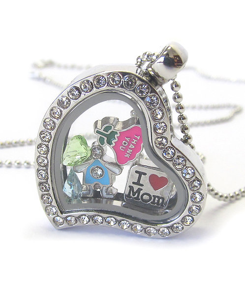 Mother's Day Floating Locket Necklace