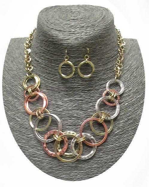 Circle Necklace Set