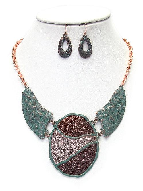 Multi Tone & Texture Patina Necklace