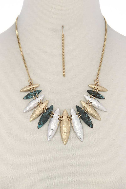 Patina Pointed Necklace