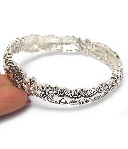 Lord's Prayer Silver Bracelet