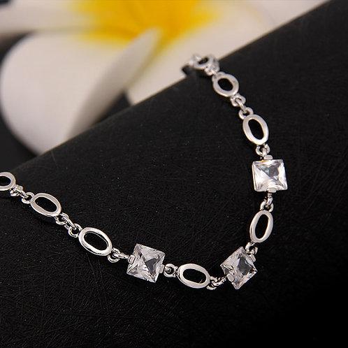 Clear Glass Stone Bracelet