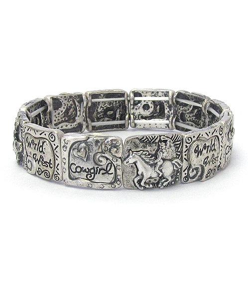 Silver Cowgirl Stretch Bracelet