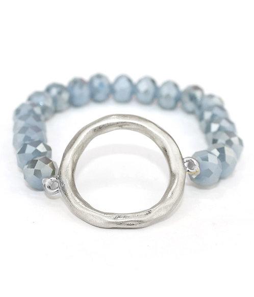 Semiprecious Beaded Circle Bracelet