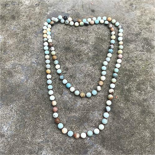 Beautiful Earthtone Beaded Long Necklace