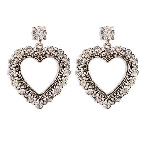 Chunky Rhinestone Earrings