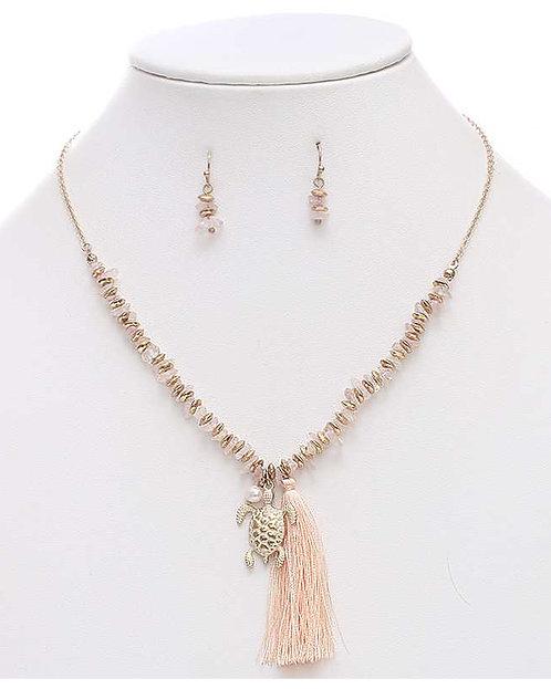 Sealife Tassell Necklace Set