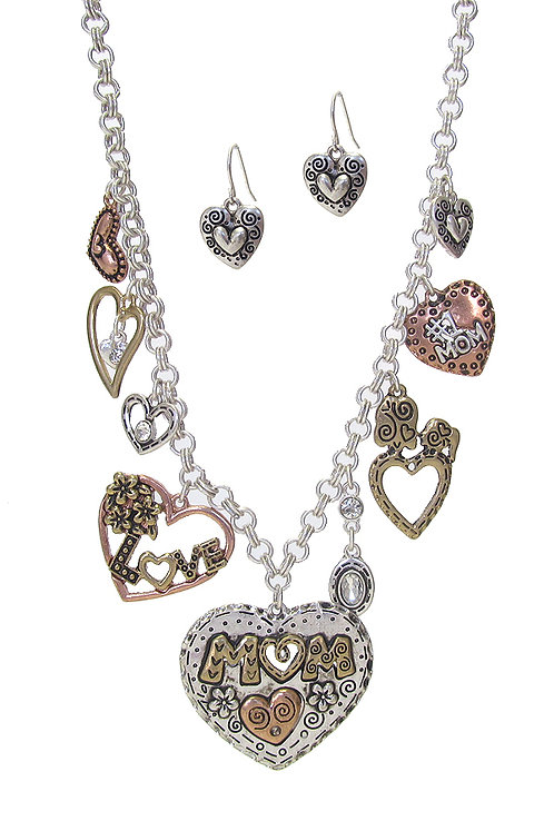 Mother's Day Heart Mom Necklace