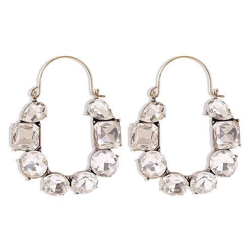 Hook Rhinestone Earrings