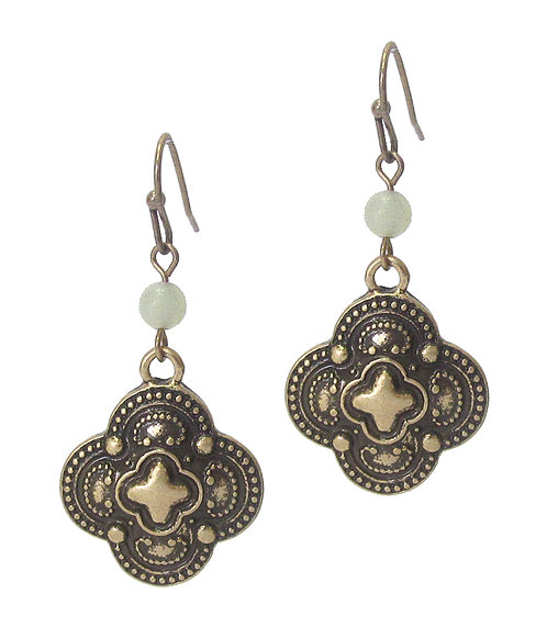 Vintage Country Design Metal Earrings