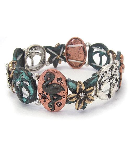 Patina Flamingo Bracelet